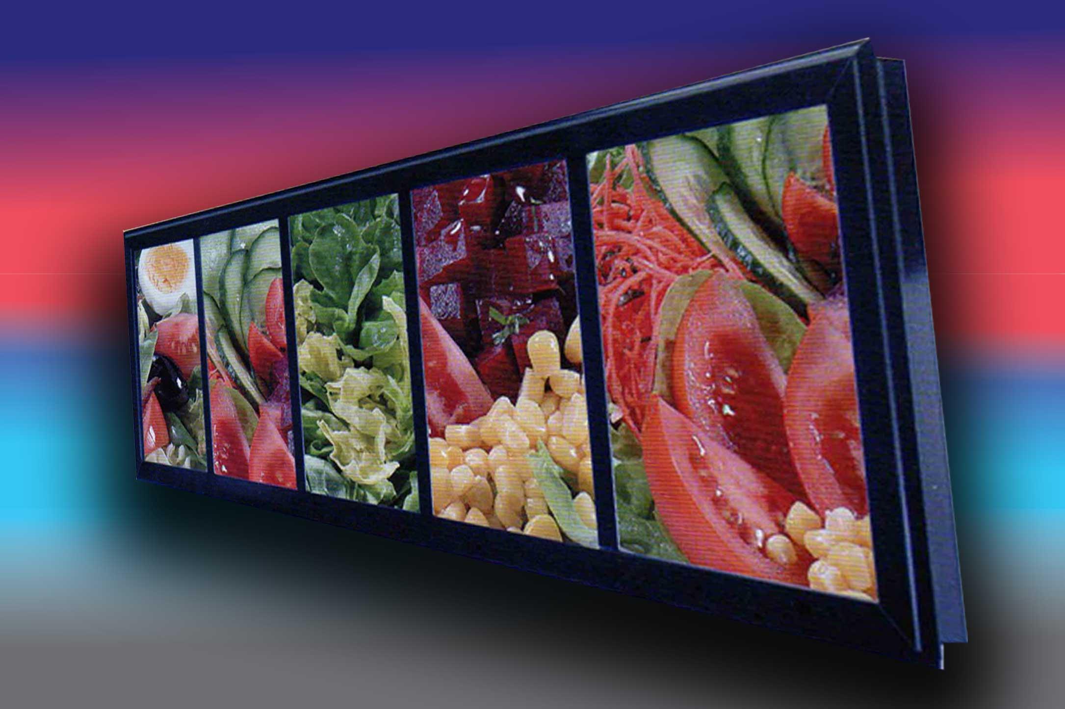 Panneau affichage exterieur restaurant cr ation enseigne for Affichage lumineux exterieur